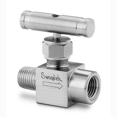 SS 26VM8 F8 Swagelok Integral Bonnet Needle Valve 073 Cv 1 2 In