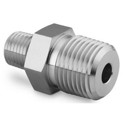 Swagelok 316 Stainless Steel Pipe Fitting Hex Reducing Nipple 3/4 in. Male NPT x 3/8 in. Male NPT  sc 1 st  Surplus Valves and Fittings & SS-12-HRN-6 Swagelok 316 Stainless Steel Pipe Fitting Hex Reducing ...